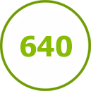 640 объектов выполнено